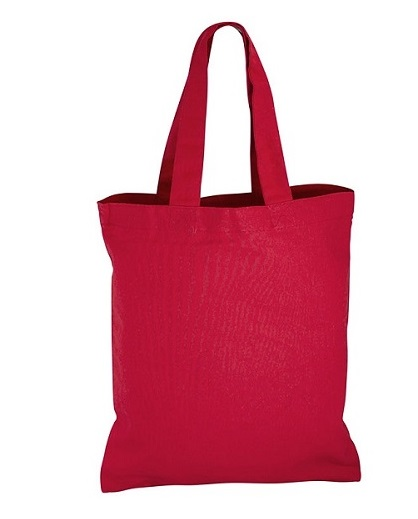 Bolsa 100% Algodón 25 x 30 cm rojo