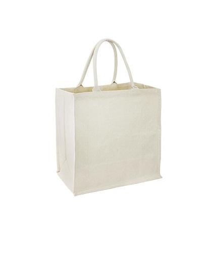 Bolsa Canvas Algodón con costado lado arriba