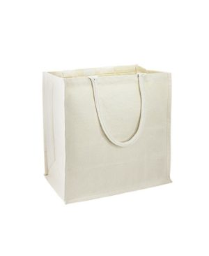 Bolsa Canvas Algodón con fuelle -lado