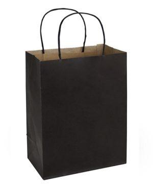 Bolsa de Papel 20 x 26 x 12 cm negro