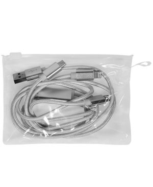 CABLE CON ADAPTADOR Iphone, Type C y Android_empaque