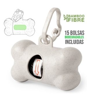 Dispensador de bolsas mascotas bambu full