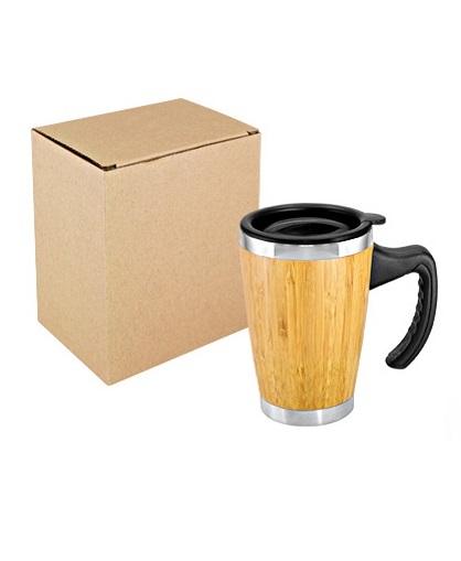 Mug de Bamboo con Asa Plastica caja