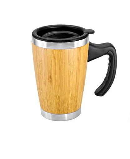 Mug de Bamboo con Asa Plastica