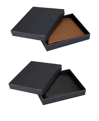 caja Billetera de cuero natural