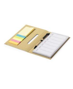 Bloc Notas Kendil de carton recliclado con lapiz