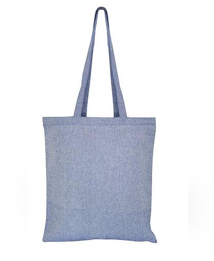 Bolsa de Algodón Reciclado -Azul