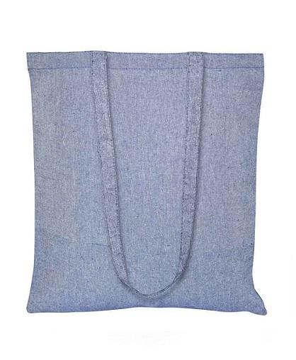 Bolsa de Algodón Reciclado azul _2