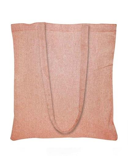 Bolsa de Algodón Reciclado -naranjo-2