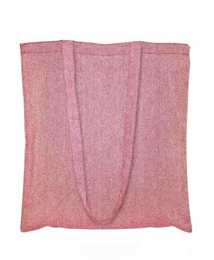 Bolsa de Algodón Reciclado -rojo-2