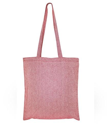 Bolsa de Algodón Reciclado -rojo