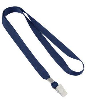 Lanyard Porta-Credencial 15 mm azul marino
