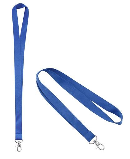 Lanyard Porta-Credencial 20 mm azul