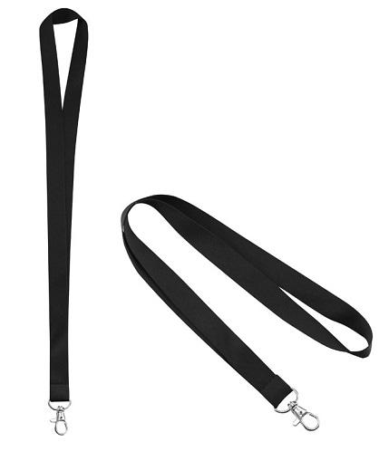 Lanyard Porta-Credencial 20 mm negro