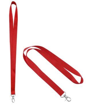 Lanyard Porta-Credencial 20 mm rojo