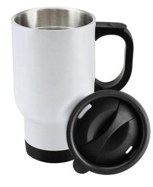 Mug Térmico Blanco Sublimación con tapa