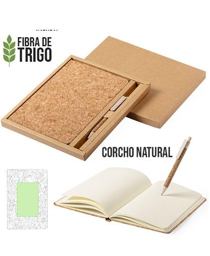 Set bloc de notas Minsor de corcho natural -USOS