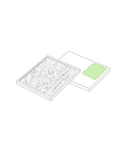 Set bloc de notas Minsor de corcho natural logo en la tapa