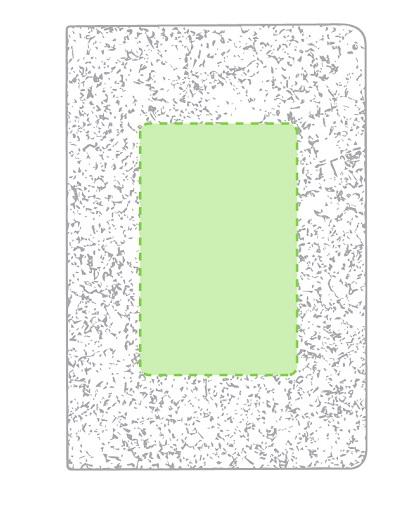 Set bloc de notas Minsor de corcho natural logo -libreta