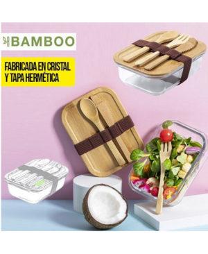 Fiambrera-cristal-tapa-bambu